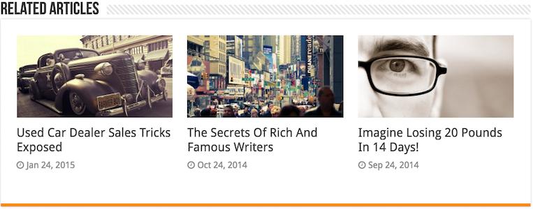 "Sahifa WordPress Magazine Style Theme - ""Related Articles"" box"