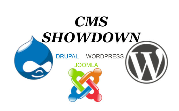 The CMS Showdown - Drupal, Joomla and WordPress