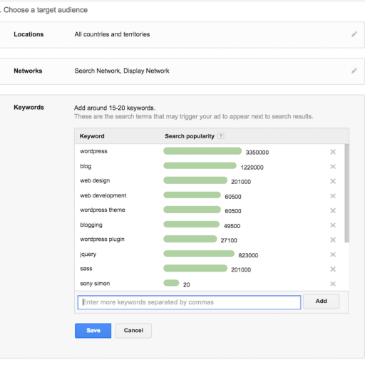 Google Adwords Keyword Planner - Choosing a Blog Topic