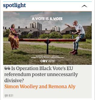 The Guardian Spotlight on an iPhone
