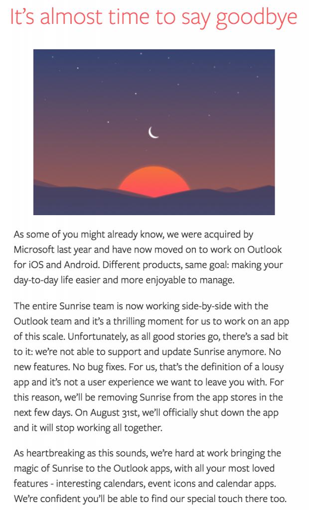 Sunrise Calendar Alternative