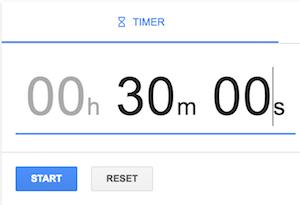 Tactic #1 - Google Timer