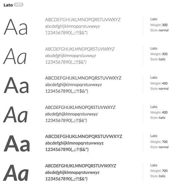 Lato Typeface