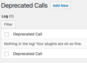 Log Deprecated Notices