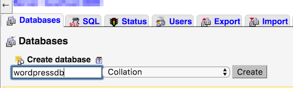 MySQL - Create Database