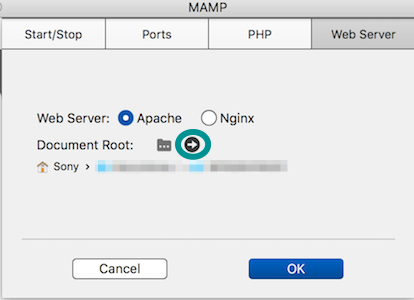 MAMP Document Root