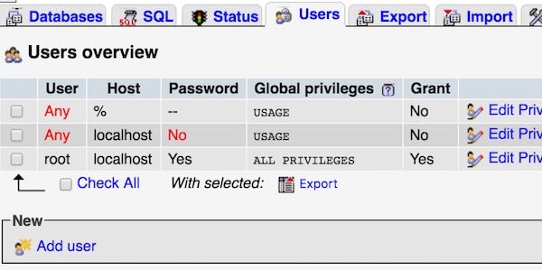 MySQL - Users