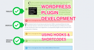 WordPress Plugin Development using Hooks and Shortcodes