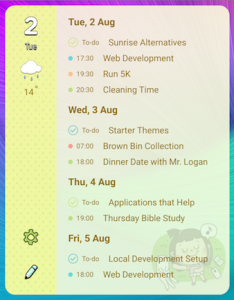 Sol Calendar Widget on my Phone