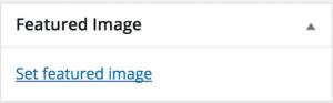 WordPress - Featured Image Meta Box