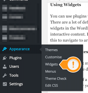 WordPress Widgets Submenu