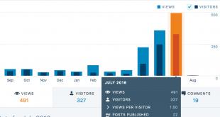 WordPress Stats - Views in July