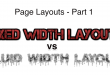 Page Layout: Fixed Width Layout vs Fluid Width Layout