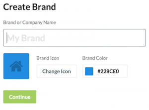 Create Brand in Frontify Style Guide