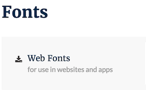 Font Kit on Frontify
