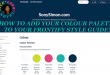 Adding Colour Palette to Frontify Style Guide