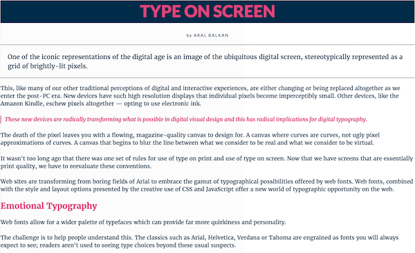 Typography Sample created on Typecast