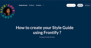 Create Style Guide using Frontify