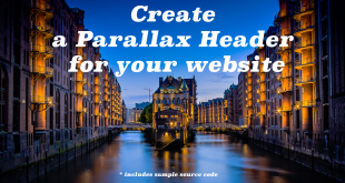 Create a Parallax Header
