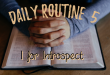 Daily Routine - Introspection through Prayer and Journaling